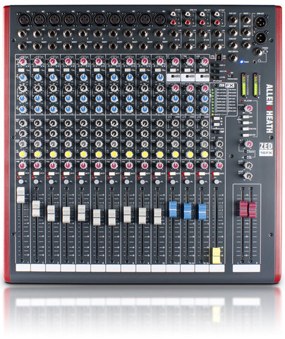 Allen & Heath ZED-16FX ZED-16FX MULTIPURPOSE USB MIXER WITH FX FOR LIVE SOUND AND RECORDING