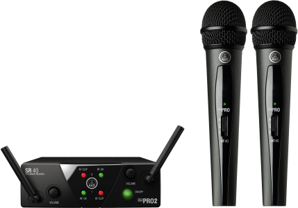 AKG WMS40 Mini2 V Dual Vocal Handheld Wireless Microphone System