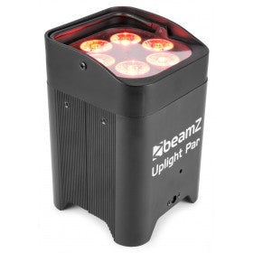 beamZ BBP96 Battery Uplight Par 6x 12W