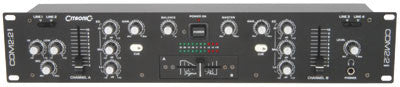 Citronic CDM2:2 MkII 2 channel 2U 19in DJ mixer