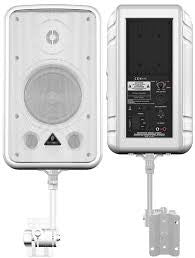 Behringer CE500A-WH Powered Speaker W/ Mount-White (Pair)