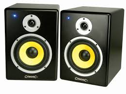 Citronic ST-8 Powered Studio Monitor Speakers  (Pair)