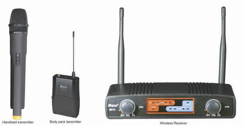 d-Tech UHF-21HH+L+HS Dual Channel Wireless Mic System