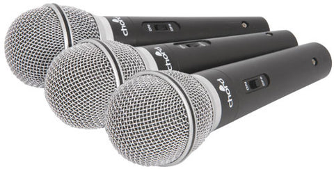 Chord DM03X SET OF 3 DYNAMIC MICROPHONES IN CASE