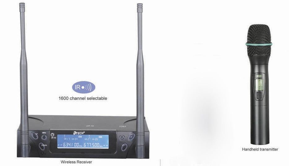 DTech UHF-103 HH Single Channel PLL Hand Held Wireless System