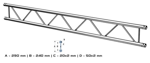 ALUSTAGE DUO 290 TRUSS 3M