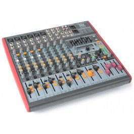 Power Dynamics PDM-S1203 Stage Mixer 12-Channel DSP/MP3- USB IN/OUT