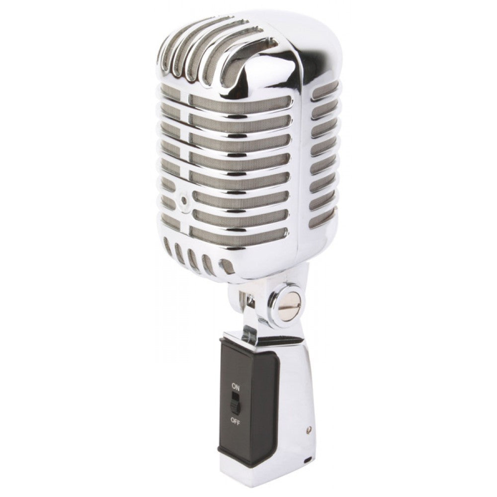 POWER DYNAMICS PDS-M02 RETRO STYLE CHROME MICROPHONE