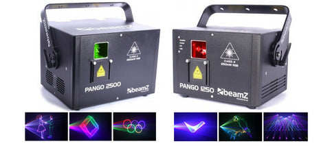 BEAMZ 1250 PHANTOM PURE ANALOG RGB DIODE LASER WITH ILDA AND DMX 30 KPPS