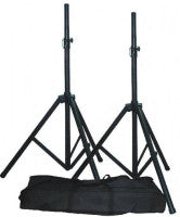 Qtx Speaker Stand Kit 2pcs Steel and carry bag