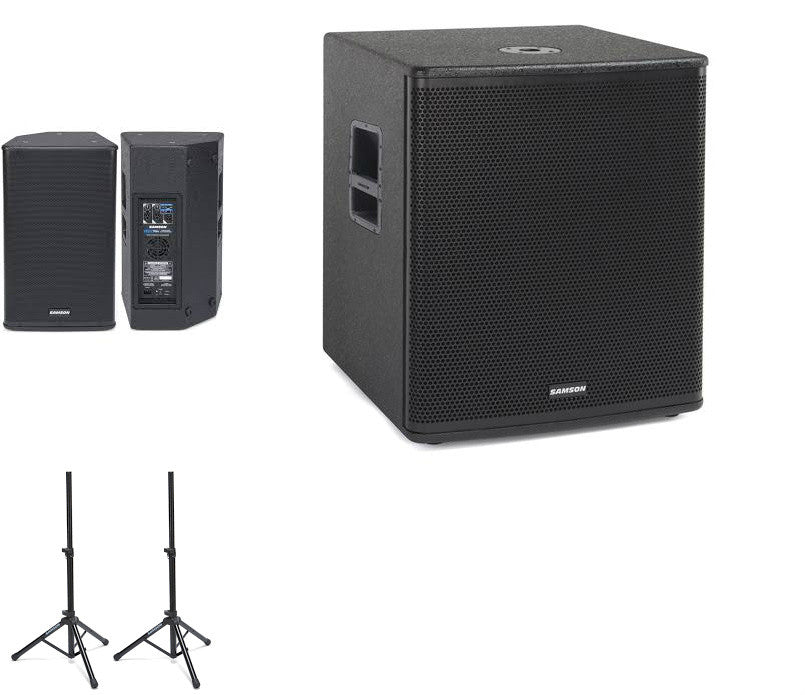Samson RSX112A Active Speakers + RSX18A Active Sub - Pro PA Package