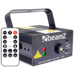 beamZ SURTUR LASER RED & GREEN LED GOBO WITH REMOTE
