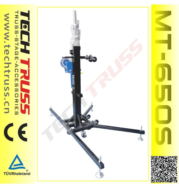 Tech Truss MT-650S Lifting Tower, 200KG, 6.5M (Single)