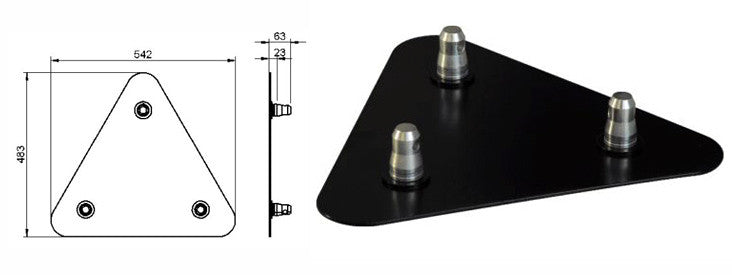 ALUSTAGE TRIO 290 BASE PLATE