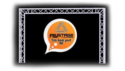 Alustage Trio goal post trussing