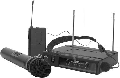 Chord UHN2 dual UHF handheld + neckband wireless system