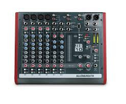 Allen & Heath Mixer ZED1002 multipurpose mixer for live sound and recording