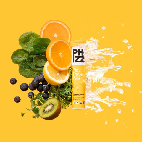 Phizz Orange Multivitamin and Hydration Effervescent Tablets