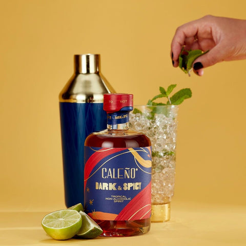 Caleño Dark and Spicy alcohol-free spirit with pineapple, coconut and ginger