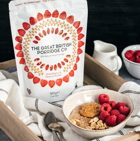 The Great British Porridge Co Strawberry and Peanut Butter