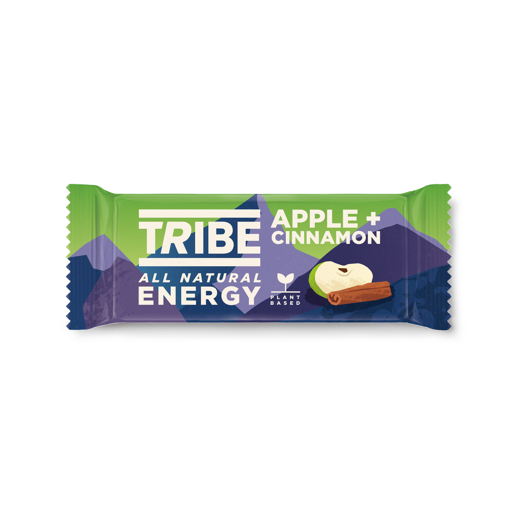 TRIBE, Infinity Energy Apple + Cinnamon Oat Bar, 47g - Mighty Small