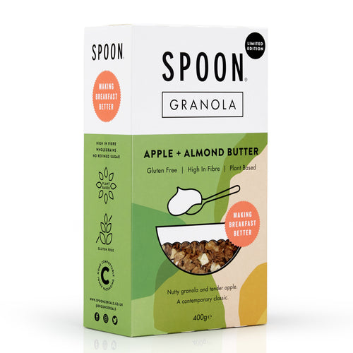 Spoon Cereals, Apple + Almond Butter Granola, 400g - Mighty Small