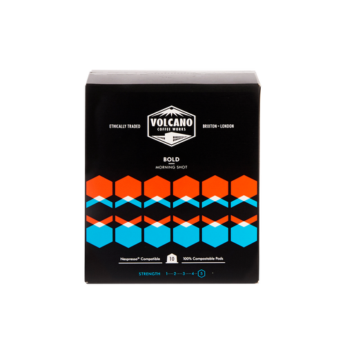 Volcano Coffee Works, Bold Morning Shot pods (10 x pods)