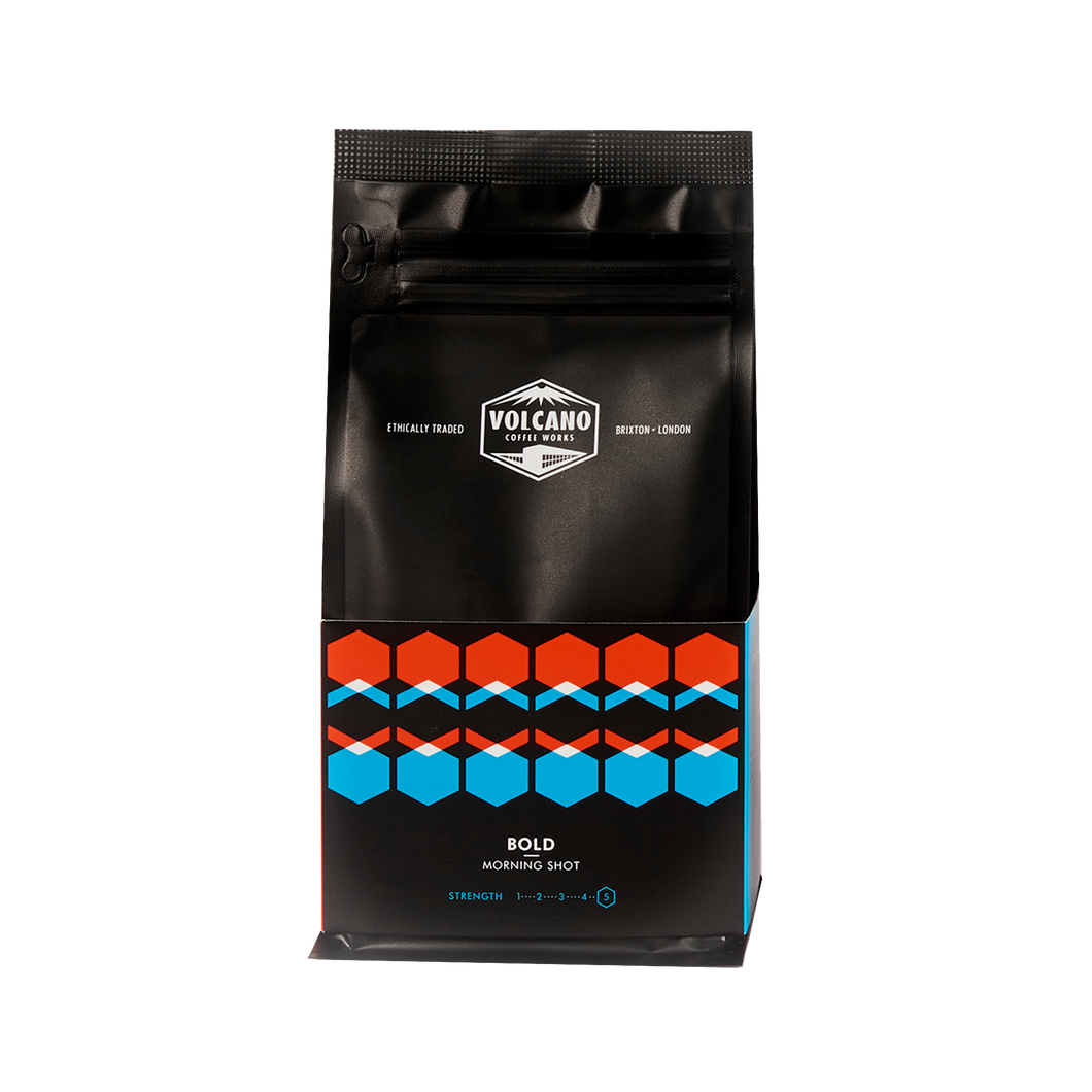 Volcano Coffee Works, Bold Morning Shot Ground Coffee 200g