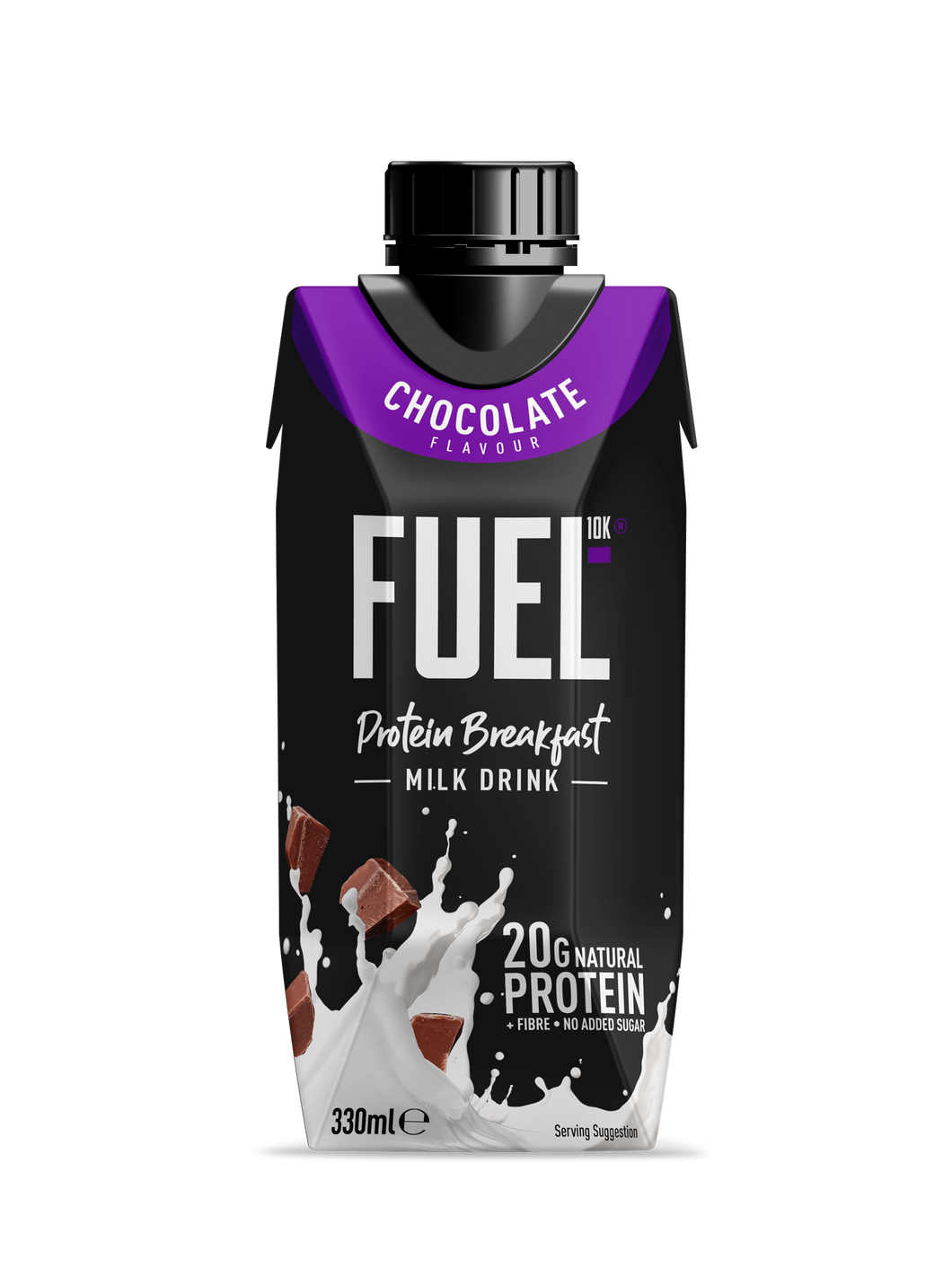 FUEL10K, High Protein Chocolate Breakfast Milk Drink, 330ml - Mighty Small
