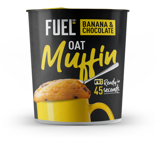 FUEL10K, Banana & Chocolate High Protein Oat Muffin Pot, 60g
