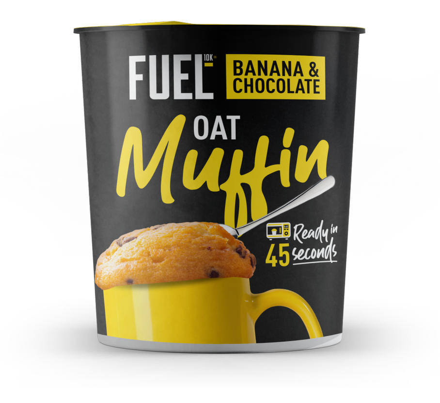 FUEL10K, Banana + Chocolate High Protein Oat Muffin Pot, 60g - Mighty Small