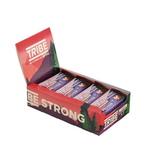 TRIBE, Cherry Bakewell Vegan Protein Bar, 46g - Mighty Small