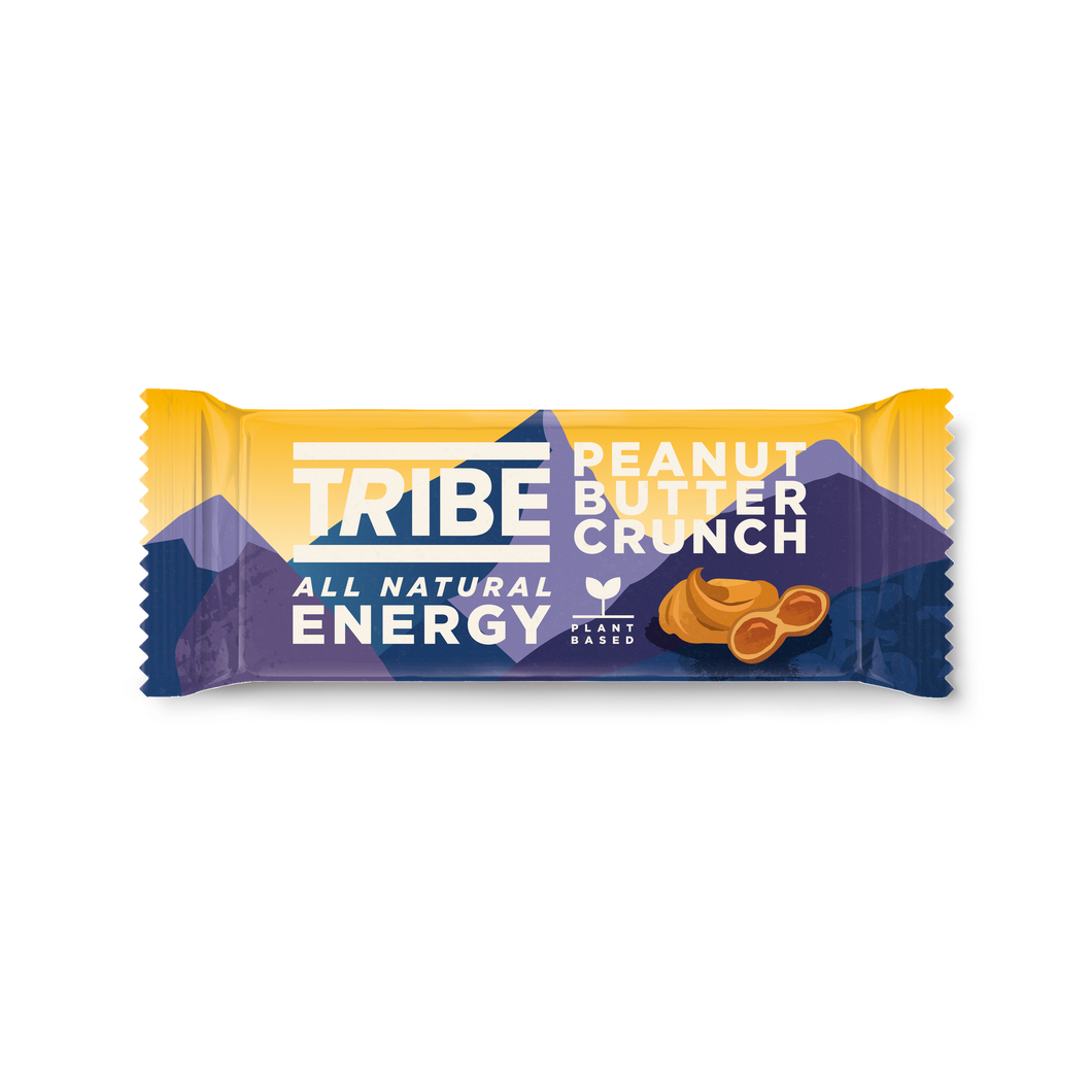 TRIBE, Infinity Energy Peanut Butter Crunch Oat Bar, 50g - Mighty Small