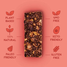 Load image into Gallery viewer, Pecan, Cocoa + Goji Berry Nut Bar, 35g - Mighty Small