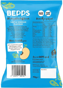 BEPPS Snacks Salt + Vinegar Puff Snacks, 70g - - Mighty Small
