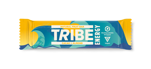 TRIBE, Cacao + Almond Vegan Energy Bar, 42g - Mighty Small