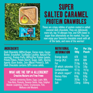 Creative Nature Super Salted Caramel Protein Gnawbles, 30g - - Mighty Small