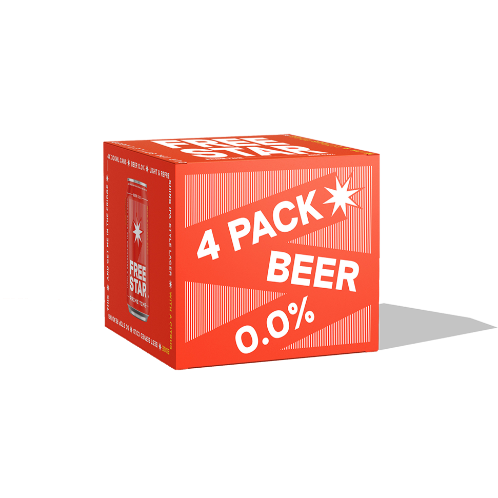 Alcohol Free Beer 0.0%, 330ml, 4 Pack
