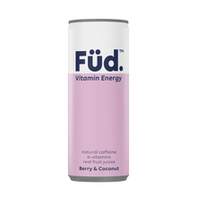 Load image into Gallery viewer, Füd Vitamin Energy Vitamin Energy Drink - Berry + Coconut, 250ml - Single - Mighty Small