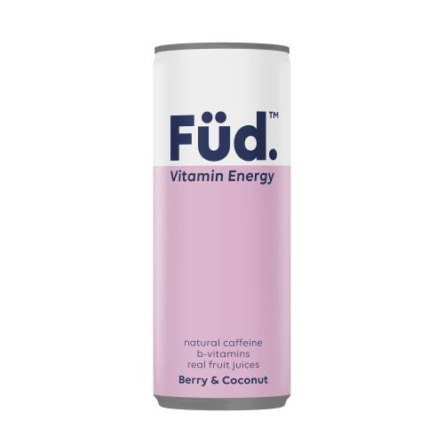 Füd Vitamin Energy Vitamin Energy Drink - Berry + Coconut, 250ml - Single - Mighty Small