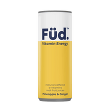 Load image into Gallery viewer, Füd Vitamin Energy Vitamin Energy Drink - Pineapple + Ginger, 250ml - Single - Mighty Small