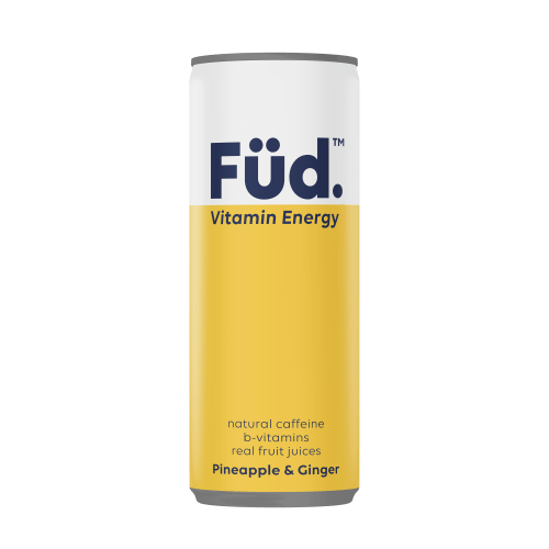 Füd Vitamin Energy Vitamin Energy Drink - Pineapple + Ginger, 250ml - Single - Mighty Small