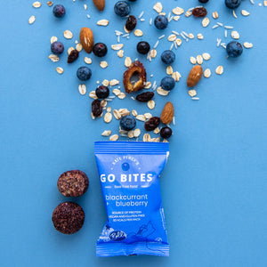 Kate Percy's Go Bites, Blackcurrant & Blueberry Energy Balls