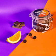 Load image into Gallery viewer, Indie Bay Snacks Dark Chocolate Orange Pretzels Gift Jar, 150g - Box of 6 - Mighty Small