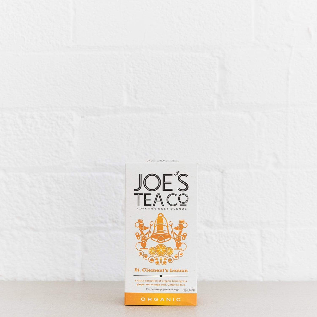 Joe's Tea Co. St. Clement's Lemon - Organic Tea - - Mighty Small