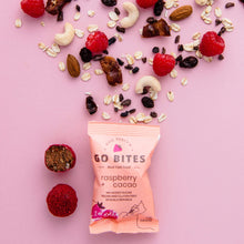 Load image into Gallery viewer, Kate Percy's Go Bites Raspberry + Cacao Energy Balls, 24g - - Mighty Small