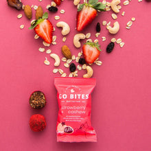 Load image into Gallery viewer, Kate Percy's Go Bites Strawberry + Cashew Energy Balls, 24g - - Mighty Small