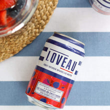 Load image into Gallery viewer, LOVEAU Raspberry, Blueberry + Strawberry Infused Sparkling Water, 330ml - - Mighty Small
