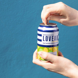 LOVEAU, Yuzu, Lemon + Lime Infused Sparkling Water, 330ml - Mighty Small