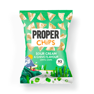 PROPER PROPERCHIPS Sour Cream + Chive Lentil Chips, 85g - Single - Mighty Small